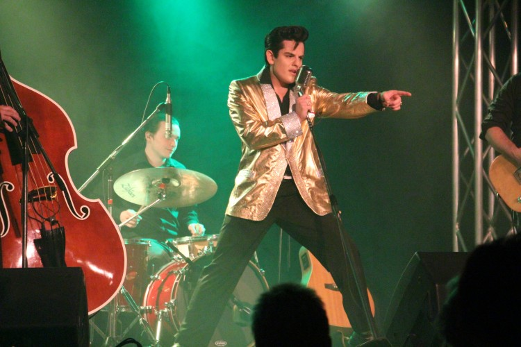 Young Elvis impersonator